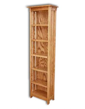 Mission-CD Rack w/adjustable shelves(5)