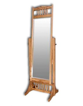 Mission-Cheval Mirror-Oak
