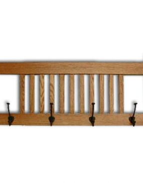 Mission-Coat Rack Deluxe- 4 Hooks