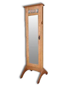 Mission-Jewelry Mirror-oak