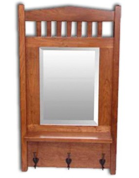 Mission Mirror w/shelf-cherry
