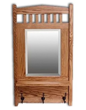 Mission Mirror w/shelf-oak