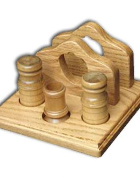 Napkin Holder,w/salt & pepper & toothpick holder w/apple