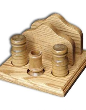 Napkin Holder,w/salt & pepper & toothpick holder w/plain