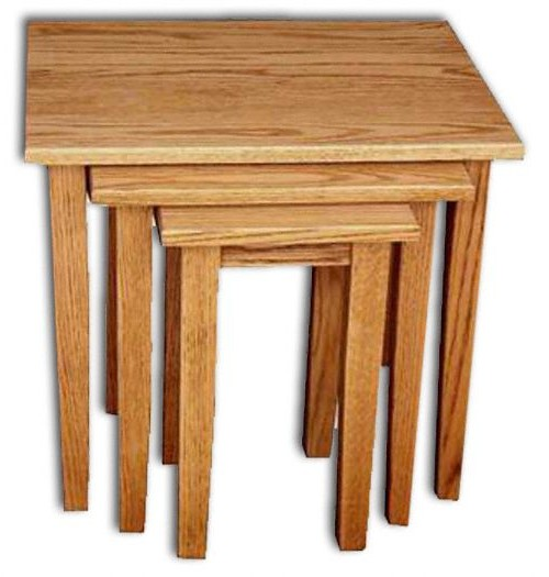 Nesting Tables (3) Shaker Leg-Oak