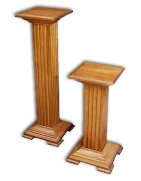 Plant Stand-Pedestal-Cherry,large (Wash Cherry)