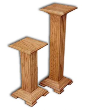 Plant Stand-Pedestal-Oak, small