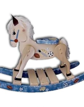 Rocking Horse-Deluxe,small-Painted Sports