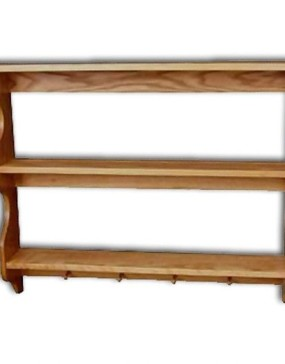 Shelf 3-tier,Pegs no rails 36""