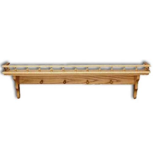"Shelf,Plain-pegs & rail 12"""