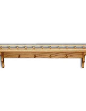 "Shelf,Plain-pegs & rail 18"""