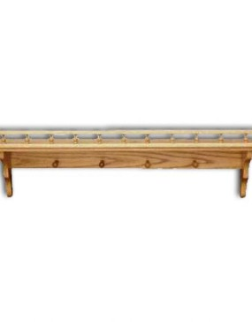 Shelf,Plain-pegs & rail 48""