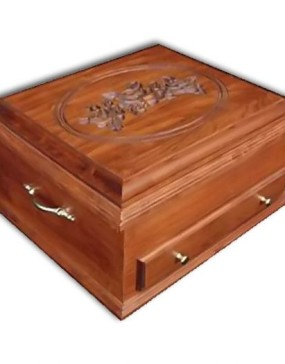 Silverware Chest-cherry- Rose lid