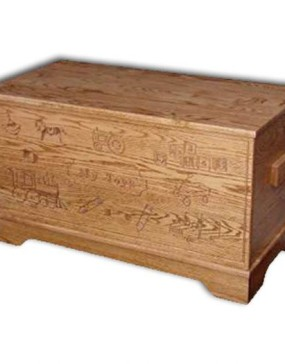 Toy Chest-Carved, Large-Oak