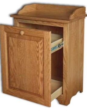 Waste Bin-Slideout - oak