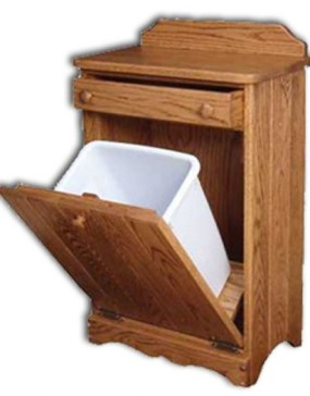 Waste Bin-tilt-out w/drawer