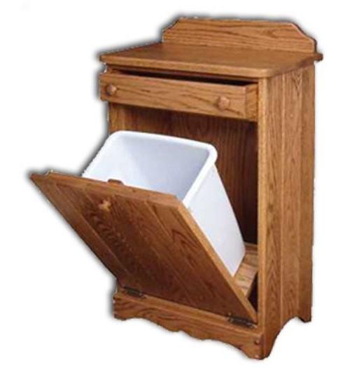 Waste Bin-tilt-out w/drawer