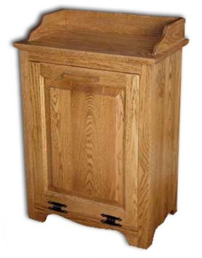 Waste Bin-tilt-out-oak