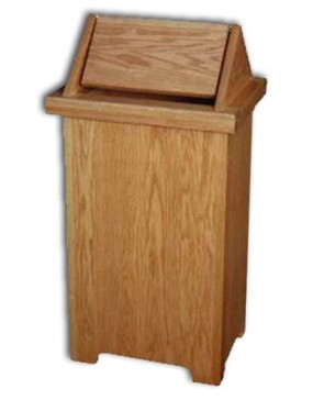 Wastebasket-tilt-top,large-Solid Oak