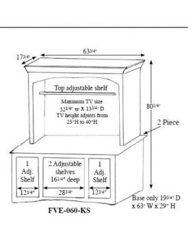Kascade 2 Piece Plasma Stand
