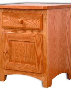 Classic Shaker Nightstand 1 Door - 1 Drawer