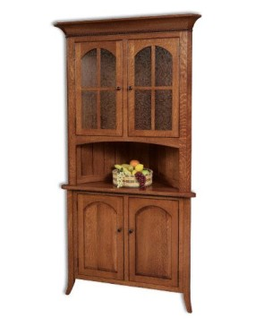 "Bunker Hill Short Door 30"" Corner Hutch"