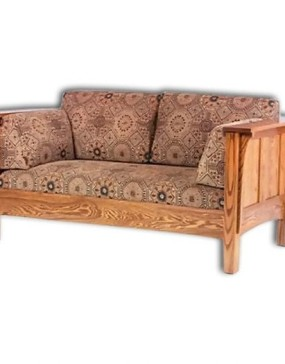 1675 Shaker Hi-back Panel Loveseat