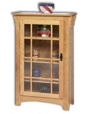 Small Mission Single Door Bookcase