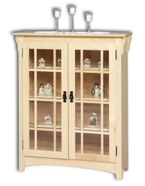 Small Mission Double Door Bookcase