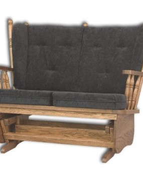 4-Post Low Back Loveseat Glider
