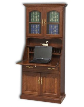 "Deluxe 33"" Secretary Desk With Doors"