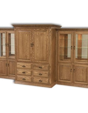 Traditional Entertainment Center 3-pc Set