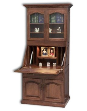 Executive Deluxe Secretary Desk w/ Doors