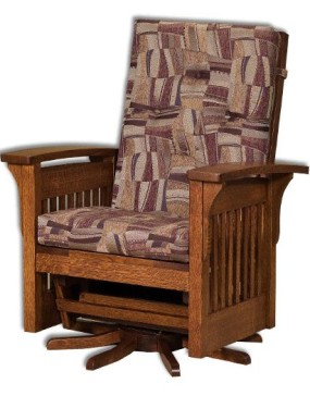 Bow Arm Slat Swivel Glider