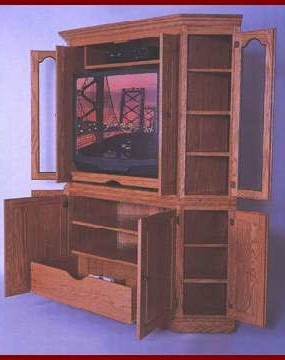 2 PC Corner Entertainment Center
