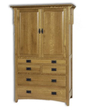 Millcreek Mission Tray Armoire