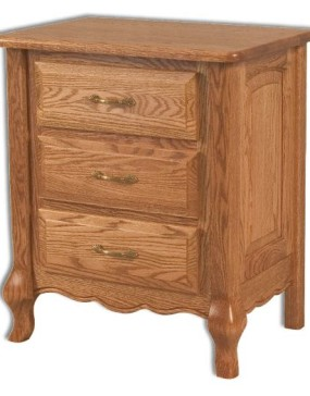 French Country 3 Drawer Bedside Chest