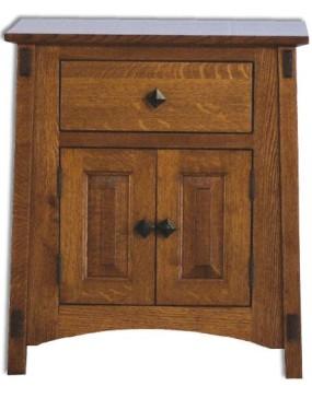 McCoy 1 Drawer 2 Door Nightstand