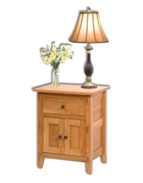 Bungalow 1 Drawer 2 Door Nightstand