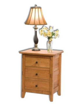 Bungalow 3 Drawer Nightstand