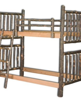 Rustic Hickory Twin Bunk Bed