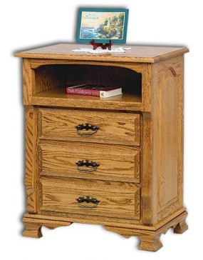 Classic Heritage 3-Drawer with Opening Nightstand