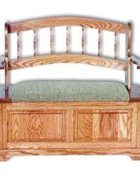 Straight Back Storage Bench