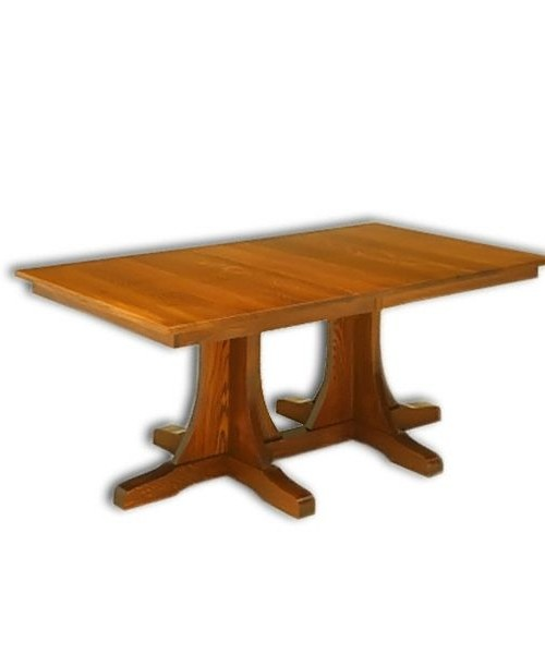 Mission Double Pedestal Table