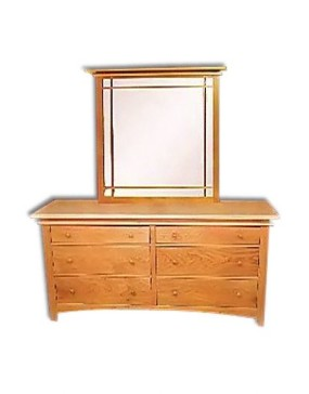 Maple Creek Straight Dresser Mirror
