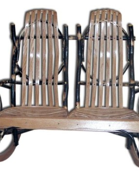 Rustic Hickory Double Rocker