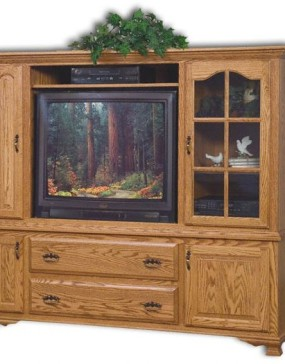 Heritage 2-Piece Entertainment Center with Media Storage