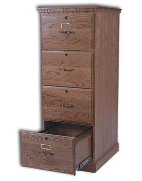 4-Drawer Traditional Or Mission File Cabinet