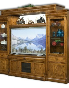 Old Classic Sleigh Big Screen Entertainment Center