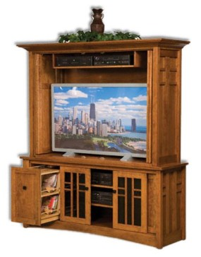 Kascade 2 Piece Bi-Fold Doors Plasma Stand